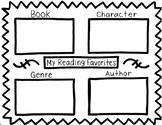 Reading Favorites Worksheet