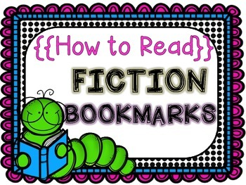 Reading Fiction Bookmarks and Posters