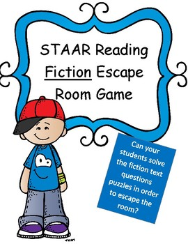 Reading: Fiction Texts Escape Room Game