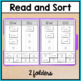 Reading File Folder Activities for Special Education - Diphthongs Vowel Digraphs
