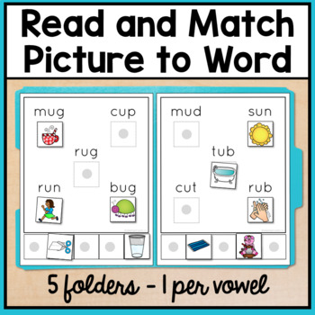 Reading File Folder Activities for Special Education and Autism - CVC Words
