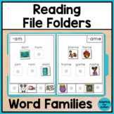 Reading File Folder Activities for Special Education and Autism - Word Families