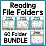 Reading File Folder Activities for Special Education and Autism BUNDLE