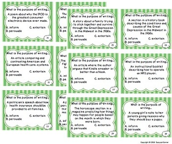 Reading Files - Author's Purpose Task Cards