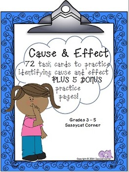 Reading Files - Cause and Effect Task Cards