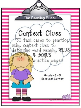 Reading Files - Context Clues Task Cards