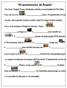 Reading/ Fill-in: House Vocabulary