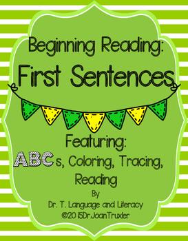 Beginning Reading: First Sentences (Preschool and Kindergarten)