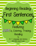 Beginning Reading: First Sentences (Preschool and Kindergarten)