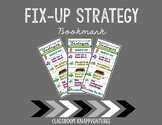 Reading Fix Up Strategy Bookmark