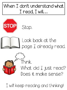 Reading Fix-Up Strategy Poster FREEBIE