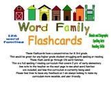 126 Word Family Flash Cards