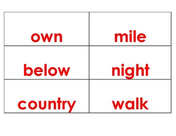 Flashcards---Fry's Word List --The second set of 200 words in red font