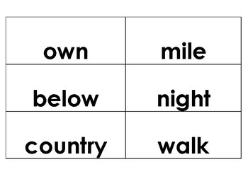 Flashcards---Fry's Word List --The second set of of 200 words
