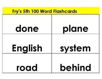 Flashcards---Fry's Word List --The third set of 200 words