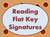 Reading Flat Key Signatures - PowerPoint with Animations T
