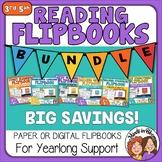Reading Flipbook BUNDLE - Paper-based or Google Slides Dig