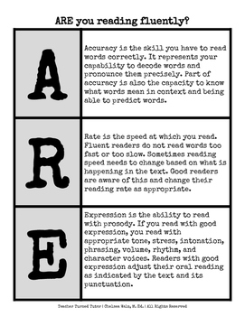 Reading Fluency: ARE you reading fluently?