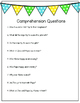 Reading Fluency Activity: 50-100 wpm & Comprehension Questions (easy and hard)