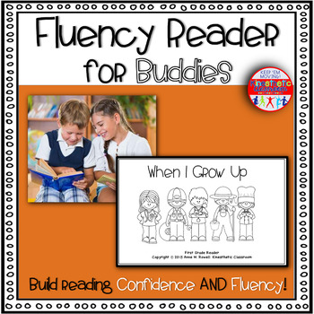 Reading Fluency Activity Book for Buddies When I Grow Up