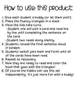 Reading Fluency Activity Book for Buddies My School
