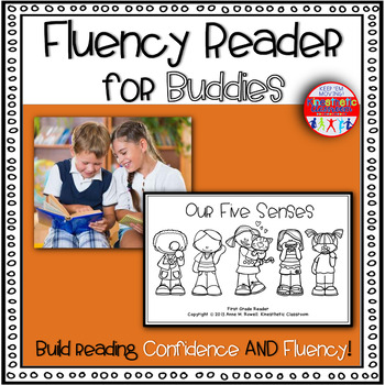 Reading Fluency Activity Book for Buddies Our Five Senses