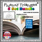 Reading Fluency Activity Fluency Triangles® Bundle RTI