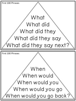 Reading Fluency Activity Fluency Triangles® Fry Sight Word Phrases