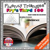 Reading Fluency Activity - Fluency Triangles® Fry Third 100 Sight Words {RTI}