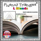 Reading Fluency Activity - Fluency Triangles® L Blends {RTI}