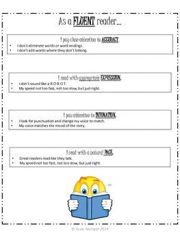 Reading Fluency Anchor Chart