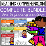 Phonics Reading Comprehension Passages &  Questions Bundle First & Second Grade