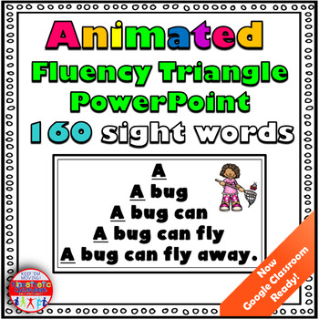 Reading Fluency Activity: Animated Fluency Triangle® Sight Word PowerPoint {RTI}