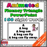 Reading Fluency Activity Animated Fluency Triangle® Sight Word PowerPoint RTI