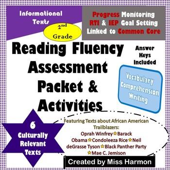 Reading Fluency Assessments & Activities, Grade 2