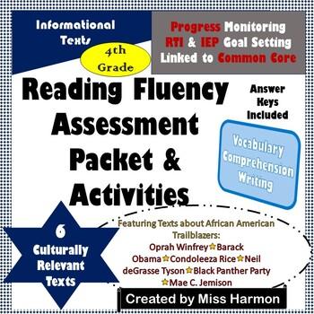 Reading Fluency Assessments & Activities, Grade 4