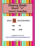 Reading Fluency Boxes – Short O Word Families