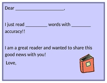 Reading Fluency Brag Letter