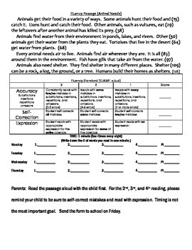 Reading Fluency Bundle Science Passages Georgia Standards