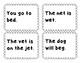 Reading Fluency Cards- CVC Words