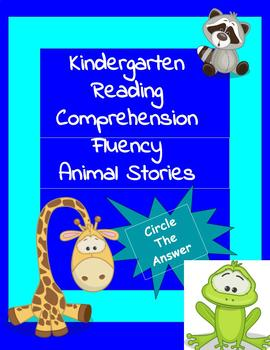 Reading Fluency Comprehension Circle Answer K-1 Animals 11 stories