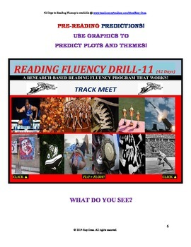 Use Graphics to Predict Plots and Themes! FLUENCY CAN BE INCREASED! Drill-11!