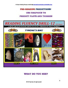 Use Graphics to Predict Plots and Themes! FLUENCY CAN BE INCREASED! Drill-12!