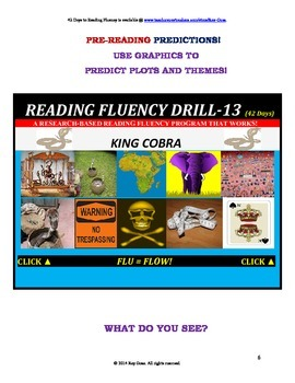 Use Graphics to Predict Plots and Themes! FLUENCY CAN BE INCREASED! Drill-13!