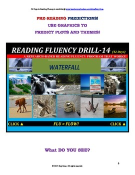 Use Graphics to Predict Plots and Themes! FLUENCY CAN BE INCREASED! Drill-14!