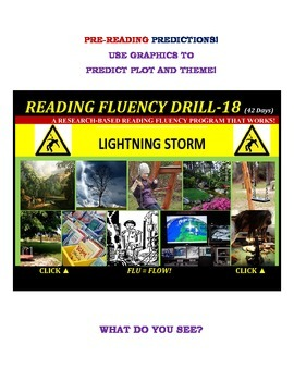 Use Graphics to Predict Plots and Themes! FLUENCY CAN BE INCREASED! Drill-18!