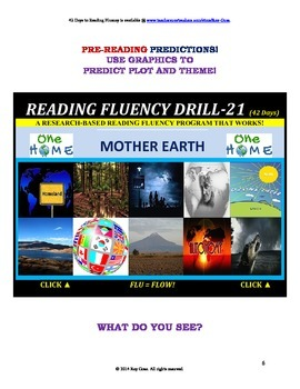 Use Graphics to Predict Plots and Themes! FLUENCY CAN BE INCREASED! Drill-21!