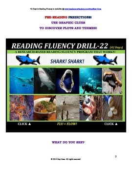 Use Graphics to Predict Plots and Themes! FLUENCY CAN BE INCREASED! Drill-22!