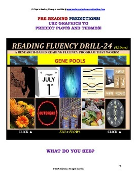 Use Graphics to Predict Plots and Themes!  FLUENCY CAN BE INCREASED! Drill-24!