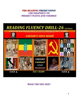 Use Graphics to Predict Plots and Themes! FLUENCY CAN BE INCREASED! Drill-26!